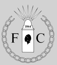 Freedmen's Cemetery Logo - This logo was designed by Alexandria Archaeology Assistant City Archaeologist, Dr. Steven Shephard, in 2006. The beautifully executed final drawing was made by Alexandria Archaeology volunteer, Mr. Andrew Flora, who made a few modifications. At the center of the logo is a headboard of the design seen in historic photographs of the Alexandria National Cemetery, established at the north end of Wilkes Street in 1862. These grave markers were supplied by the U.S. Army Quartermaster Department in Alexandria and records state that this department also supplied the headboards and coffins for Freedmens Cemetery. The pine boards were whitewashed and the plot number, and presumably, the name of the deceased, and possibly the date of death, were painted in black on the headboard. The number 1864 in the logo represents the year that the cemetery was established. The black silhouette of the African American woman in the center of the board is meant to represent the people, the Freedmen, who were buried at the cemetery. Civilian men, women and many children were buried here, along with African American soldiers of the United States Colored Troops. The rays radiating from the top of the headboard are meant to represent the light of freedom, as well as the souls of the Freedmen ascending into heaven and their final reward. The F and C are for Freedmen's Cemetery. The surrounding broken chain wreath symbolizes the severed bonds of slavery which resulted from the American Civil War which transformed Alexandria and the nation.